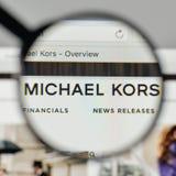 Milan, Italy - November 1, 2017: Michael Kors Holdings logo on t Stock Images