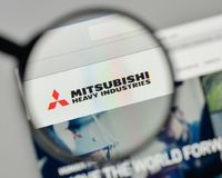 Milan, Italy - November 1, 2017: Mitsubishi Heavy Industries log. O on the website homepage Stock Photo