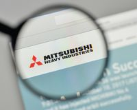 Milan, Italy - November 1, 2017: Mitsubishi Heavy Industries log Royalty Free Stock Photos