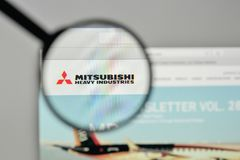 Milan, Italy - November 1, 2017: Mitsubishi Heavy Industries log. O on the website homepage Stock Photography