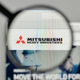 Milan, Italy - November 1, 2017: Mitsubishi Heavy Industries log Stock Photo