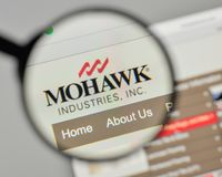 Milan, Italy - November 1, 2017: Mohawk Industries logo on the w. Ebsite homepage Stock Photography