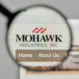 Milan, Italy - November 1, 2017: Mohawk Industries logo on the w. Ebsite homepage Stock Image