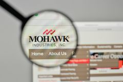 Milan, Italy - November 1, 2017: Mohawk Industries logo on the w. Ebsite homepage Stock Photo