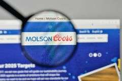Milan, Italy - November 1, 2017: Molson Coors Brewing logo on th. E website homepage Royalty Free Stock Image