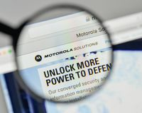 Milan, Italy - November 1, 2017: Motorola Solutions logo on the. Website homepage Royalty Free Stock Photo