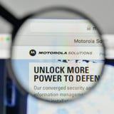 Milan, Italy - November 1, 2017: Motorola Solutions logo on the. Website homepage Stock Photos