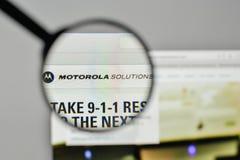 Milan, Italy - November 1, 2017: Motorola Solutions logo on the. Website homepage Royalty Free Stock Image