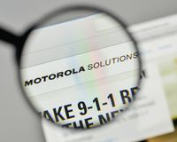 Milan, Italy - November 1, 2017: Motorola Solutions logo on the. Website homepage Royalty Free Stock Photos