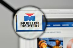 Milan, Italy - November 1, 2017: Mueller Industries logo on the. Website homepage Stock Image