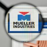 Milan, Italy - November 1, 2017: Mueller Industries logo on the. Website homepage Royalty Free Stock Image