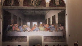 Last supper Leonardo stock video