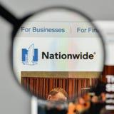Milan, Italy - November 1, 2017: Nationwide insurance logo on th. E website homepage Stock Photos