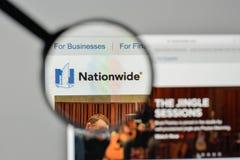 Milan, Italy - November 1, 2017: Nationwide insurance logo on th. E website homepage Royalty Free Stock Photos