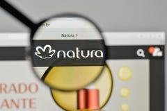 Milan, Italy - November 1, 2017: Natura Cosmeticos SA logo on th. E website homepage Stock Photos
