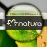 Milan, Italy - November 1, 2017: Natura Cosmeticos SA logo on th. E website homepage Royalty Free Stock Photo