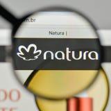 Milan, Italy - November 1, 2017: Natura Cosmeticos SA logo on th. E website homepage Royalty Free Stock Photography