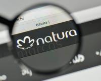 Milan, Italy - November 1, 2017: Natura Cosmeticos SA logo on th. E website homepage Stock Image