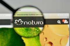 Milan, Italy - November 1, 2017: Natura Cosmeticos SA logo on th. E website homepage Stock Photography