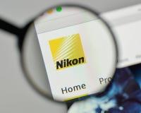 Milan, Italy - November 1, 2017: Nikon logo on the website homep. Age Stock Photography