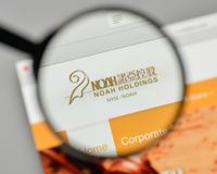 Milan, Italy - November 1, 2017: Noah Holdings logo on the websi Royalty Free Stock Photos