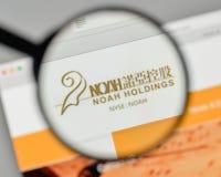 Milan, Italy - November 1, 2017: Noah Holdings logo on the websi Royalty Free Stock Image