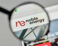 Milan, Italy - November 1, 2017: Noble Energy logo on the websit. E homepage Royalty Free Stock Photography