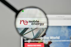 Milan, Italy - November 1, 2017: Noble Energy logo on the websit. E homepage Stock Images