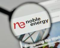 Milan, Italy - November 1, 2017: Noble Energy logo on the websit. E homepage Royalty Free Stock Photos