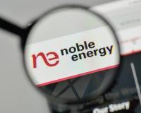 Milan, Italy - November 1, 2017: Noble Energy logo on the websit. E homepage Stock Photo
