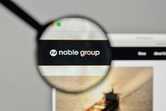 Milan, Italy - November 1, 2017: Noble Group logo on the website. Homepage Stock Image