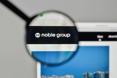 Milan, Italy - November 1, 2017: Noble Group logo on the website. Homepage Royalty Free Stock Photos