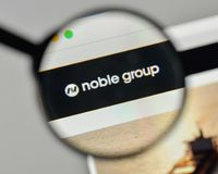 Milan, Italy - November 1, 2017: Noble Group logo on the website. Homepage Royalty Free Stock Image