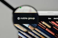Milan, Italy - November 1, 2017: Noble Group logo on the website. Homepage Stock Photography