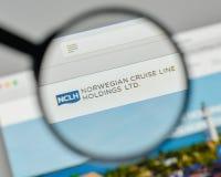 Milan, Italy - November 1, 2017: Norwegian Cruise Line Holdings Royalty Free Stock Images