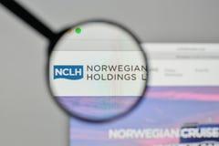 Milan, Italy - November 1, 2017: Norwegian Cruise Line Holdings. Logo on the website homepage Stock Image