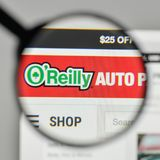 Milan, Italy - November 1, 2017: O Reilly Automotive logo on the. Website homepage Royalty Free Stock Photos