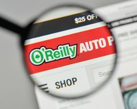 Milan, Italy - November 1, 2017: O Reilly Automotive logo on the. Website homepage Stock Photos