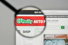 Milan, Italy - November 1, 2017: O Reilly Automotive logo on the. Website homepage Stock Photography