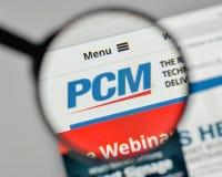 Milan, Italy - November 1, 2017: PCM logo on the website homepag. E Stock Images