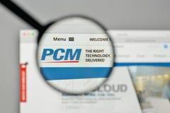Milan, Italy - November 1, 2017: PCM logo on the website homepag. E Stock Image