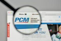 Milan, Italy - November 1, 2017: PCM logo on the website homepag. E Stock Photos