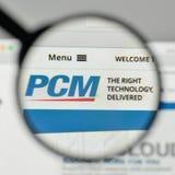 Milan, Italy - November 1, 2017: PCM logo on the website homepag. E Royalty Free Stock Photo