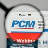 Milan, Italy - November 1, 2017: PCM logo on the website homepag. E Royalty Free Stock Photos