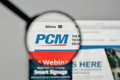 Milan, Italy - November 1, 2017: PCM logo on the website homepag. E Royalty Free Stock Image