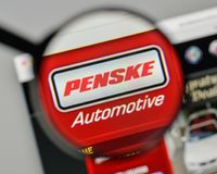 Milan, Italy - November 1, 2017: Penske Automotive Group logo on. The website homepage Stock Photo