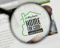 Milan, Italy - November 1, 2017: Ply Gem Holdings logo on the we Stock Photos