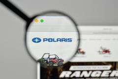 Milan, Italy - November 1, 2017: Polaris Industries logo on the. Website homepage Stock Images