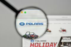 Milan, Italy - November 1, 2017: Polaris Industries logo on the. Website homepage Stock Photography