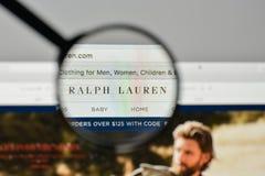 Milan, Italy - November 1, 2017: Ralph Lauren logo on the website homepage. stock image